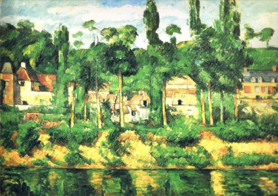 Cezanne, Paul: The Chateau de Medan. Landscape/Scenic Fine Art Print/Poster. Sizes: A4/A3/A2/A1 (00112)